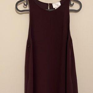 Aritzia le fou wine trompette dress small preloved